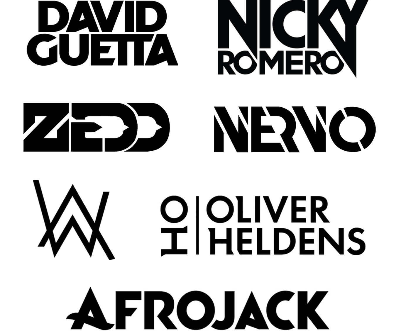 Music Artist Logo Design Examples