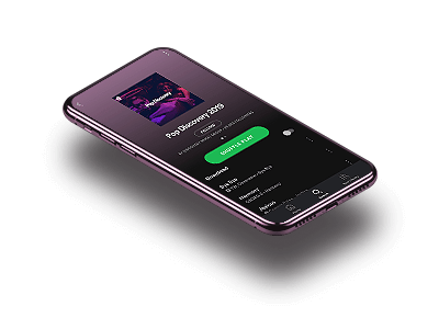Phone Playing Spotify Playlist