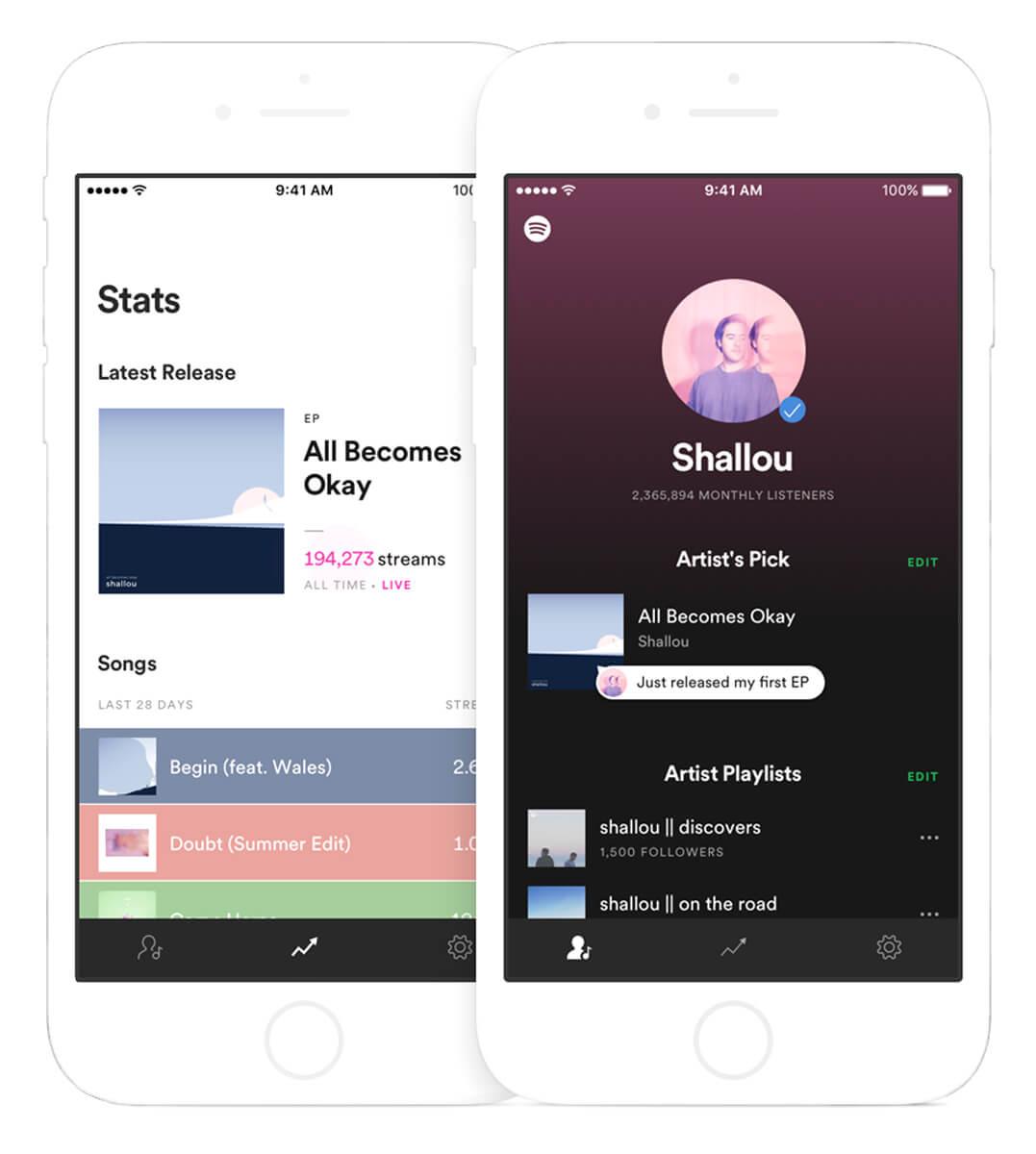 Spotify For Artists Statistics Screenshot