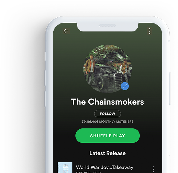 The Chainsmokers Spotify Profile