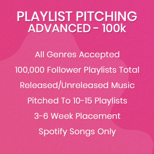 Advanced Spotify Playlist Pitching Package