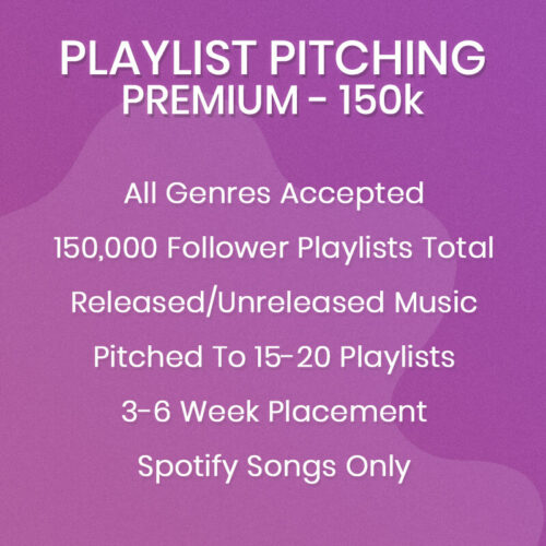 Premium Spotify Playlist Pitching Package