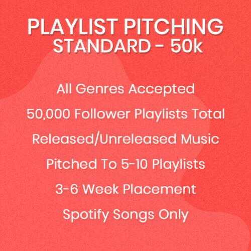 Standard Spotify Playlist Pitching Package