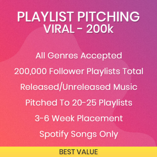 Viral Spotify Playlist Pitching Package